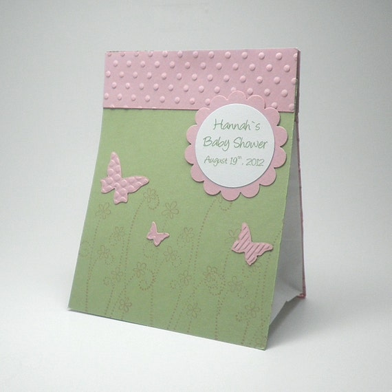 similar to baby shower butterfly favor bag green and pink on etsy