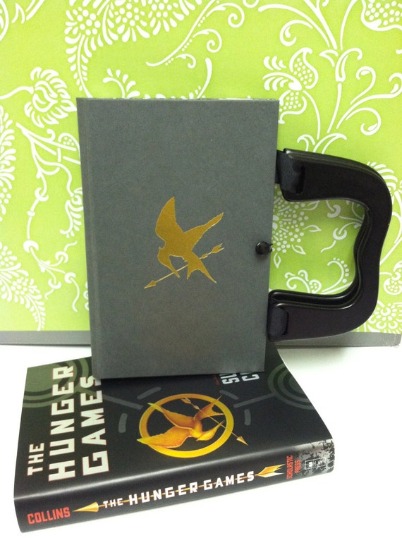 "Book Purse made from the Hard Cover of ""The Hunger Games"" book by Suzanne Collins"