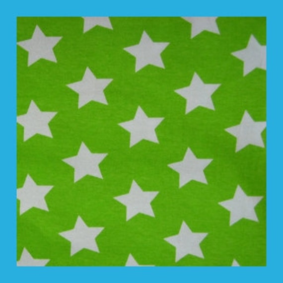 Lime stars - cotton single jersey - 1 meter (about 1,1 yards)