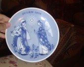 1973 JULEN Decorative plate from norway promise of the savior