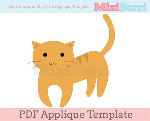 Applique Template Cat PDF