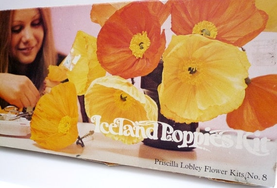 Vintage Paper Flower Making Kit - Priscilla Lobley - Iceland Poppies Kit