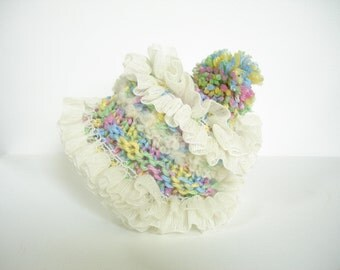 Confetti and Ruffles Baby Hat