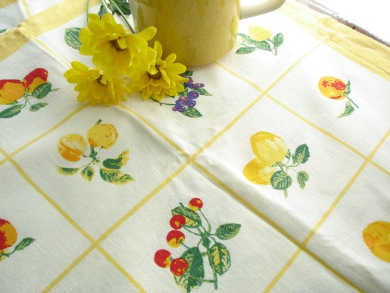 Please Do Not Purchase on Hold for Penny Fruity Yellow Cotton Kitchen Towel
