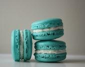 Tiffany Blue Coconut Buttercream French Macaron