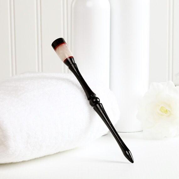 Sleek Hair stick - Ebony - Pink Ivory - Pearlescent Acrylic