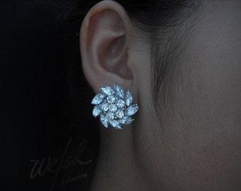 Emma Collection, Bridal Earrings, Rhinestone Crystal earrings, Vintage Style Bridal Earrings, Weddng Jewelry