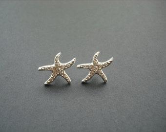 STARFISH Collection, Bridal Earrings, Rhinestone Crystal earrings, Vintage Style Bridal Earrings, Beach Theme Wedding, Weddng Jewelry