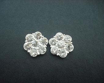 Kaylee Collection, Bridal Earrings, Rhinestone flower Crystal earrings, Vintage Style Bridal Earrings, Weddng Jewelry