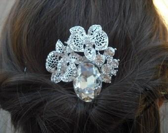 Alexa Collection, Rhinestone Hair Comb, Victorian Art Deco Bridal Hair Comb, Vintage Style Hair Accessories, Wedding Hair Comb
