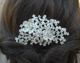 SALE - Madelyn Collection, Art Deco Rhinestone With Pearl Hair Comb, Bridal Hair Comb, Vintage Style Hair Accessories, Wedding Hair Comb