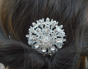 Sale - Andrea Collection, Rhinestone Hair Comb, Victorian Art Deco Bridal Hair Comb, Vintage Style Hair Accessories, Wedding Hair Comb