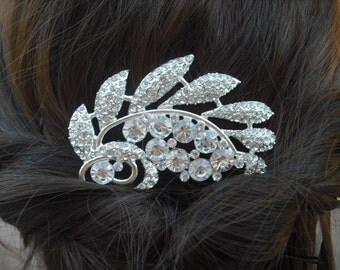 Naomi Collection, Art Deco Rhinestone With Pearl Hair Comb, Bridal Hair Comb, Vintage Style Hair Accessories, Wedding Hair Comb