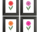 Print Daisy Set, Flower Art, Home Decor, Wall Art, Nursery Design 8X10
