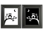 Owl Wall Art Print Set 8x10, Home Decor, Wall Art, Nursery