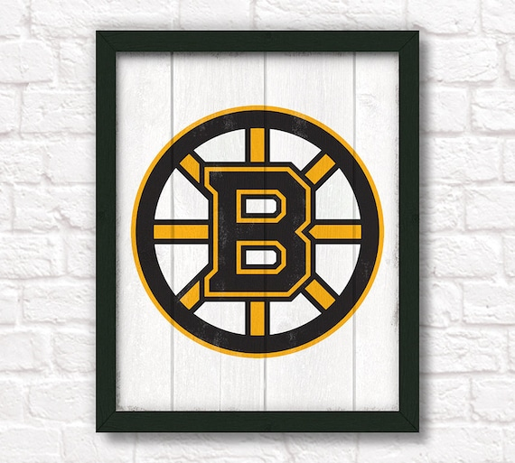 Boston Bruins - rustic home decor - handmade sign - Bruins wall hanging - Boys room or man cave decor Fathers Day gift
