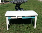 Childs Turquoise Desk