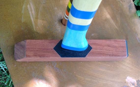 Extreme Croquet Mallet - bubinga blue two stripe