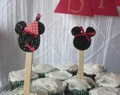 Minnie Mouse Cupcake Toppers CUSTOM MADE