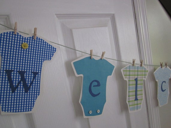 Welcome Baby its a boy banner shower baby naming