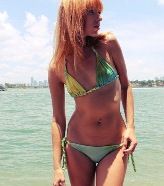 Tie Dye Braided Bikini - Triangle Top & Brazilain Scrunch Bottom