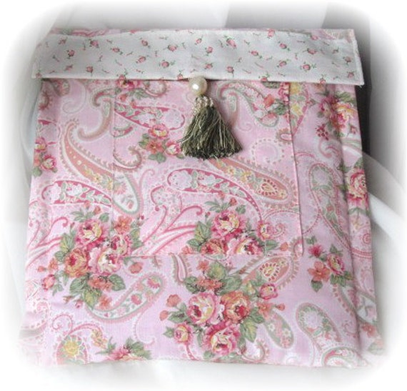 IPAD PINK Paisley Fabric Kindle Nook Cover/Sleeve