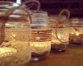 Rustic Shabby set of tea light holders