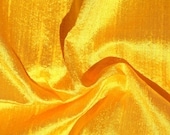 Half Yard Bright Yellow Sunshine Dupioni Silk Blend Indian