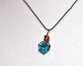 SALE - Swarovski Pendant on Silk String Necklace