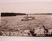 """Two Vintage Real Photo RPPC Postcards the """"Rapids Prince"""" on St. Lawrence River"""