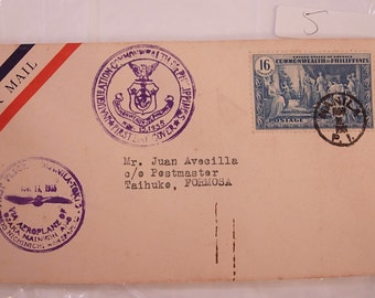 WW11 1st Day Cover Airmail Formosa Postal History Stamp