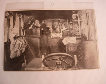 Vintage Transportation postcard Ford Touring Car  Adventurer Car driven by a woman with victrola  with history