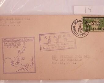WW11 1st Day Cover Sa Malaking Silangang Asya Postal History Stamp