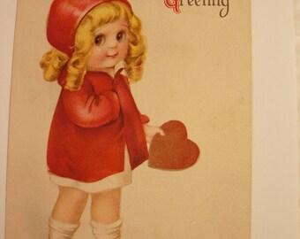 Vintage victorian googley eyes Valentine postcard