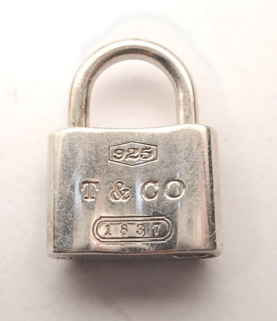 Vintage Tiffany Sterling Silver Mechanical Padlock Charm Bracelet Lock