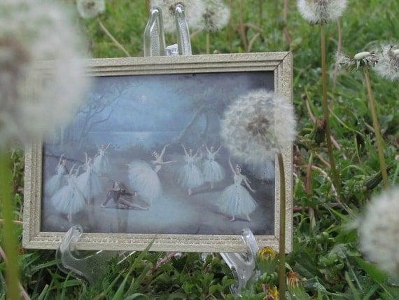 Miniature Ballet Scene - Mid-Century Framed Picture
