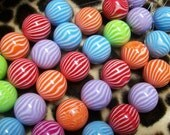 Resin Beads, 20mm, Mixed Color