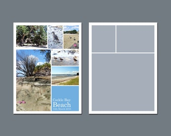 INSTANT DOWNLOAD - Photo Collage Template, Storyboard Template - 6 x 8 - Template Pack - No.1