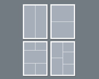INSTANT DOWNLOAD - Photoshop Template, Storyboard Template - 5 x 7 - Template Pack - No.3
