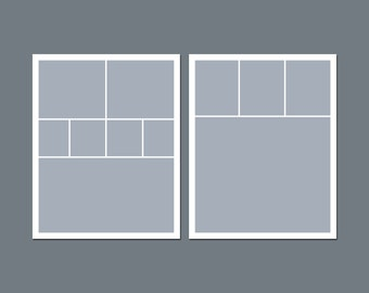 INSTANT DOWNLOAD - Digital Photo Collage Template - 8 x 10 - Template Pack - No.3