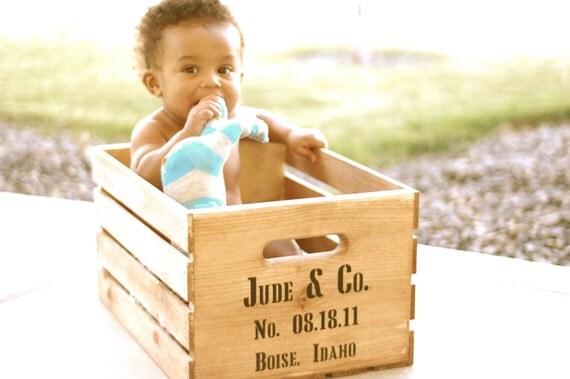 Custom Keepsake Wooden Crate