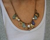 Vintage Charm Bracelet Necklace