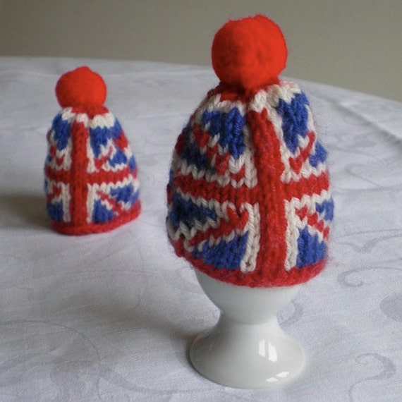 Union Jack knitted egg cosy (2)
