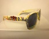 Custom Handpainted Zombie Knock Around Sunglasses wayfarer style