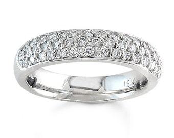 Ladies platinum pave diamond wedding band 0.45 ctw G-VS2 diamonds