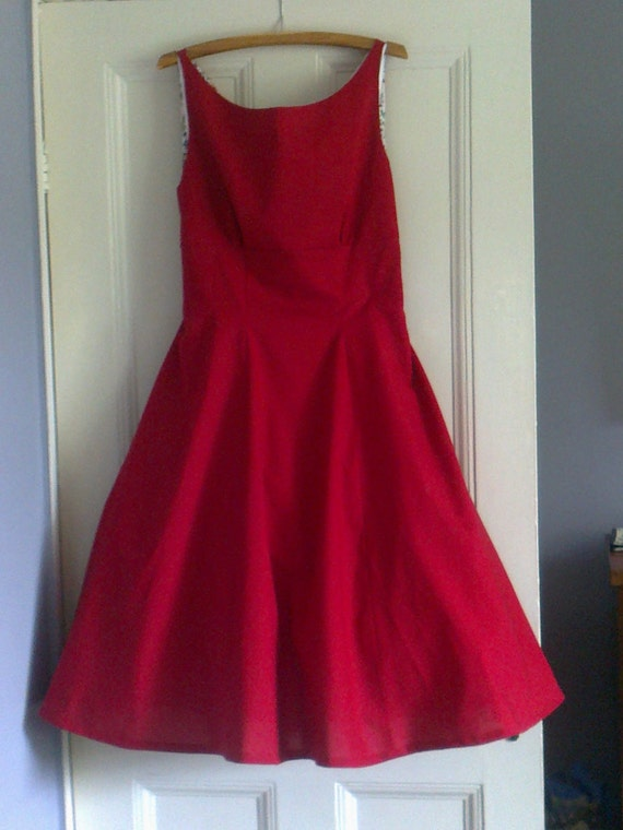 1950's style fitted dress with full skirt made to order to your measurements - pinup - retro - rockabilly - bridesmaid