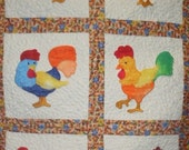 Funky Roosty Applique Machine Embroidery Designs - Complete Set