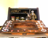 SALE - Voodoo Hex spell Box-Mixed Media Assemblage