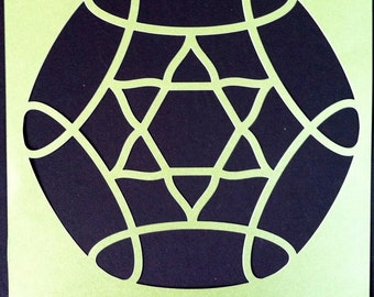 KalaDalas Large Demo Stencil: Lotus Star Design