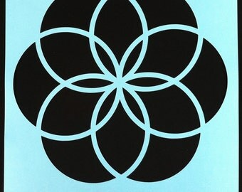KalaDalas Large Demo Stencil: Circle Flower Design